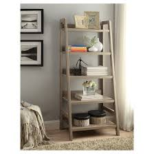 5 Shelves Bookcase 5 Shelf Bookcase Gray Linon Home Decor Target