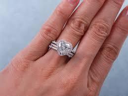 heart shaped wedding rings 2 13 ctw heart shape diamond wedding ring set includes a matching