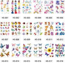 18 designs 1 glitter sticker small butterfly