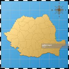 Romania Map Map Of Romania States Cities And Flag Vector Art Getty Images