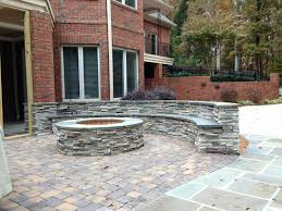 patio ideas outdoor stone patio grout paver patio with firepit