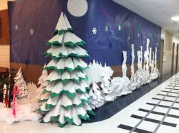 White Christmas Paper Decorations by 207 Best Library Display Ideas For Christmas Images On Pinterest