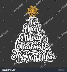 we wish you merry happy stock vector 496822363
