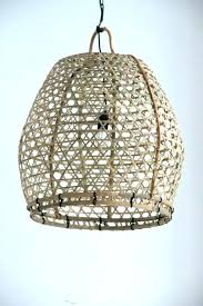 Wicker Pendant Light Decorative 3 Light Manual Rattan Shade Modern Pendant Lighting