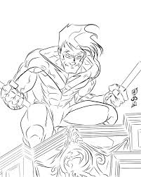 nightwing coloring pages 18499
