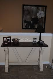 White Entry Table by Diy Fancy X Desk For Entry Way Hello I Live Here