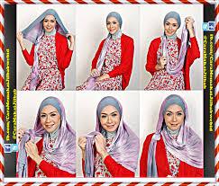tutorial hijab turban ala april jasmine tutorial jilbab shawl ala april jasmine cara memakai jilbab