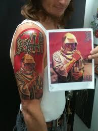 death u2013 human heavy metal tattoo
