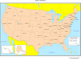 usa map just states united states map capitals united states map with just capitals 81