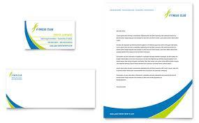 Business Card And Letterhead Sports U0026 Health Club Business Card U0026 Letterhead Template Design