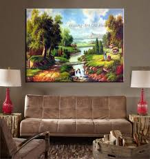 Home Decor Europe Hand Painted Europe Canvas Oil Painting Classical Landscape