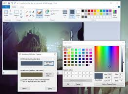 create a color theme for any background in windows 10