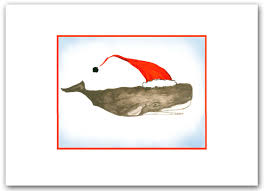 nautical christmas cards whale christmas cards whale whale cards set of