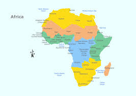 African Countries Map Geo Map Africa Central African Republic