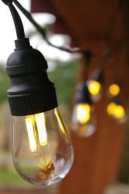 25 outdoor patio string light set g40 clear globe bulbs 28 ft