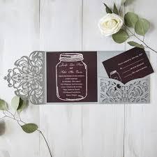 burgundy wedding invitations burgundy and silver laser cut pocket wedding invitations with