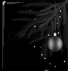 black christmas black and white christmas card stock vector colourbox