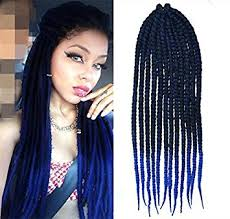 ombre crochet braids black to royal blue two colors ombre crochet braid