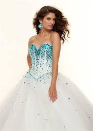 gown sweetheart floor length white beaded prom dress