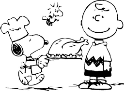 snoopy thanksgiving coloring pages happy thanksgiving