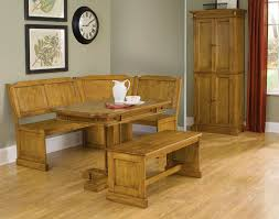 rustic kitchen table with bench simple bar glass mahogany