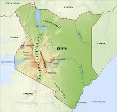 Africa Physical Map Kenya Physical Map