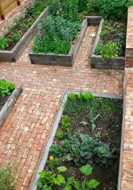 brick walkways for my raised beds a future project for my master