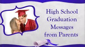high school graduation messages from parents