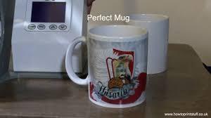 how to print sublimation mugs with geo knight mug press youtube