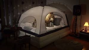 the bed tent room in room saves on heating by pitching a tent over your bed