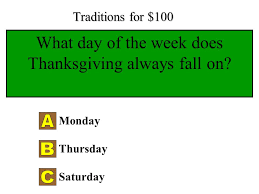 thanksgiving jeopardy ppt