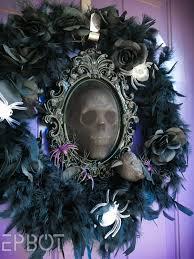Halloween Eyeball Wreath Epbot My New Halloween Wreath Aka Yay Glowing Skulls