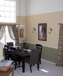 paint colors for dining room with chair rail add chair rail to