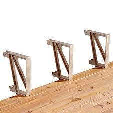 amazon com deck bench brackets home improvement