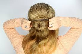 hairstyles with a hair donut wedding day hairstyles fishtail braid wrapped bun tutorial