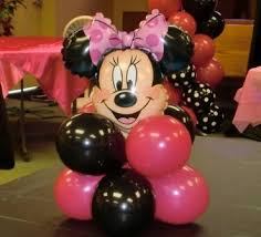 minnie mouse center pieces photos by dayton s child party planners kid time party entertainment