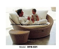 rattan lounge sofa creative rattan sofa bed leisure lying lounge chair garden