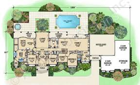 2 Car Garage Floor Plans Presidential Estate Porte Cochere House Plan Luxury House