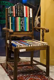Upcycle Old Books - seat on knowledge http inspirationgreen com art from old books