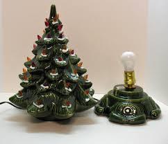 small vintage ceramic tree light up base faux plastic