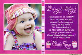 awesome baby first birthday invitation card 45 for free