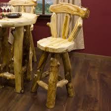 Reclaimed Wood Bar Stool Rustic Log Iron Reclaimed Wood Bar Stools And More Log Bar Stools