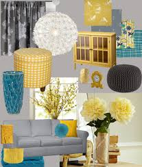 my living room design board yellow teal and grey living