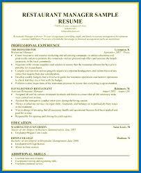 restaurant manager resume template resume template restaurant manager embersky me