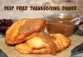 fried thanksgiving dinner oh bite it