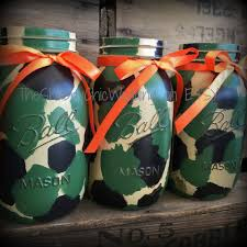 Camo Wedding Centerpieces by Camo Mason Jars Camouflage Vases Hand Painted Camo Mason Jars