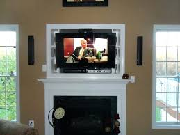 mounting a tv above a gas fireplace ing above fireplace installation gas fire plasma