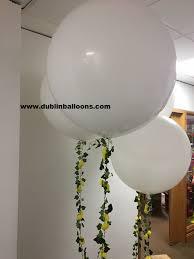 large white balloons dublin balloons in dublin engagements wedding anniversary