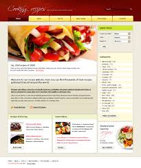 site de cuisine facile cuisine website template cooking recipes webpage custom website