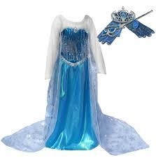 amazon com ice princess long cape dress up set costume ages 11